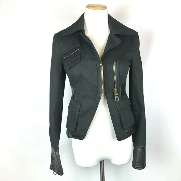 L.A.M.B. Jackets & Blazers - L.A.M.B. Gwen Stafani Leather Trim Blazer Sz 0